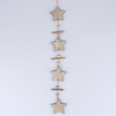 Dřevěná girlanda, hvězdy