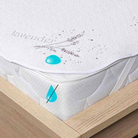 Protecție saltea 4Home Lavender impermeabilă cu elastic, 160 x 200 cm