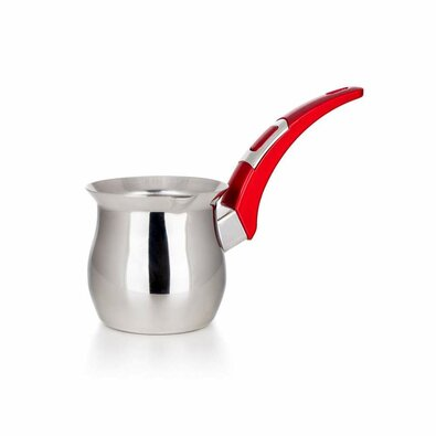 Banquet Džezva nehrdzavejúca VISTA Red 350 ml, zaoblená rukoväť
