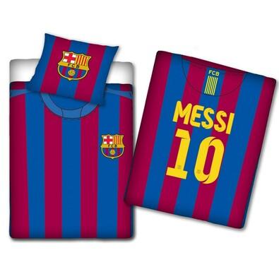 Bavlněné povlečení FCB dres č. 10 Messi, 140 x 200 cm, 70 x 80 cm