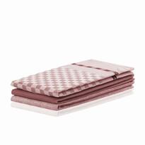 DecoKing Prosop bucătărie Louie, roz, 50 x 70 cm, set 3 buc.
