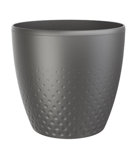 Mască din plastic pentru ghiveci Perla 16 cm, antracit imagine 2021 e4home.ro