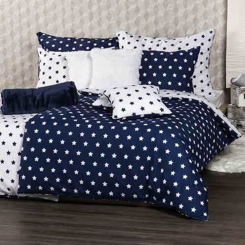 4Home Bavlnené obliečky Stars Navy blue, 220 x 200 cm, 2 ks 70 x 90 cm