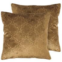 4Home Poszewka na poduszkę Salazar brązowy, 2x 40 x 40 cm