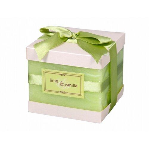 Dekoratívna sviečka Elegancia Limeta a vanilka