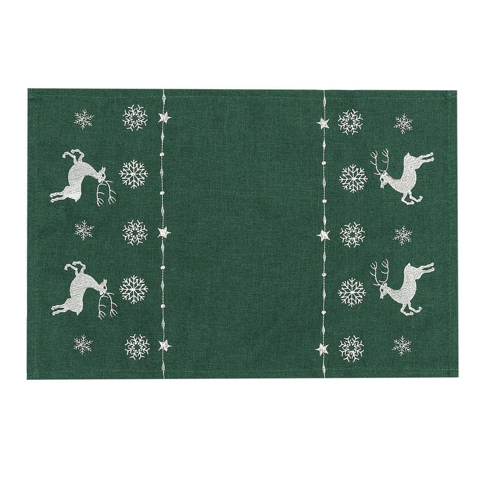 Forbyt Vianočné prestieranie soby zelená, 30 x 45 cm, 30 x 45 cm