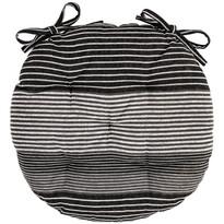 Siedzisko Paski szary pikowane okrągłe, 40 cm