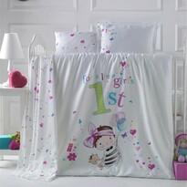 Detské bavlnené obliečky do postieľky Bambina, 100 x 135 cm, 40 x 60 cm