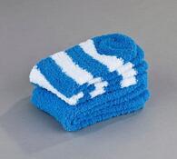 Sada 2 párov ponožiek na spanie Batepo, tm. modré, biela + modrá