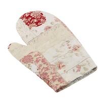 Bellatex Rękawica kuchenna Ema Patchwork Serce  różowy, 28 x 28 cm