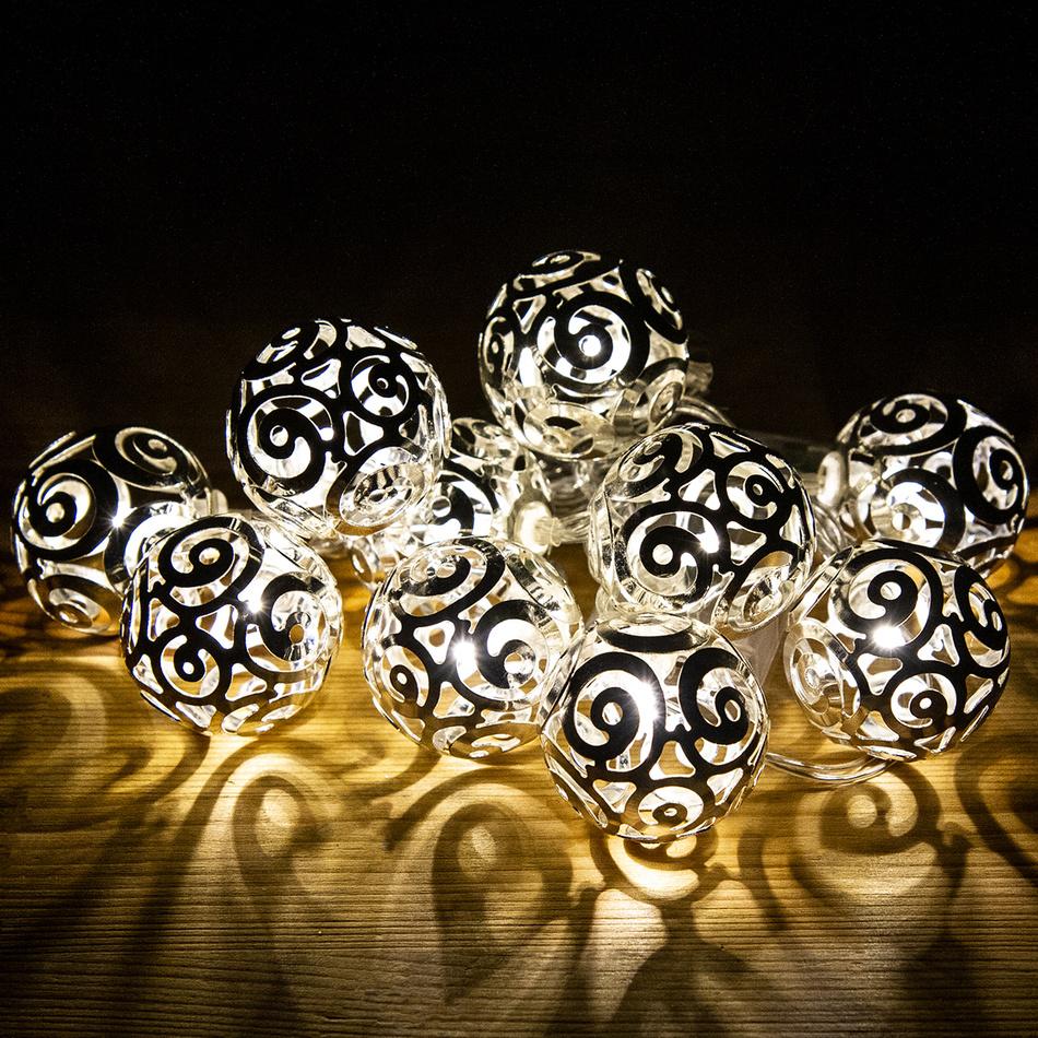 Světelný řetěz Girando stříbrná, 10 LED