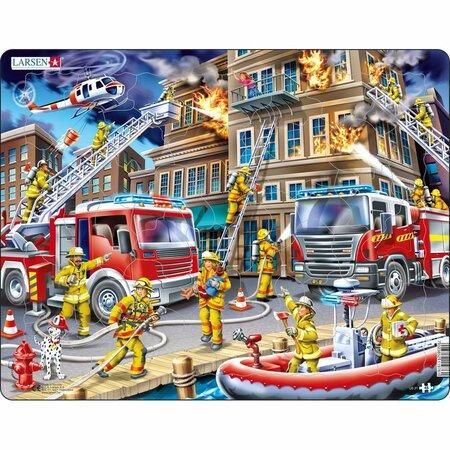 Puzzle Larsen Pompieri la incendiu, 45 piese