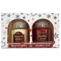 Sada vonných sviečok Magical Winter and Christmas scent, 2 ks