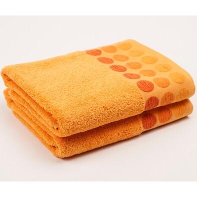 Ručník Fashion Round oranžová, 30 x 50 cm