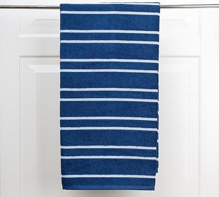 Osuška Marino, modrá, bílá + modrá, 70 x 140 cm