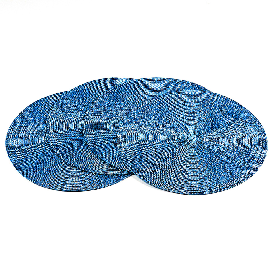 Jahu Prostírání Deco kulaté světle modrá, pr. 35 cm, sada 4 ks