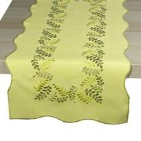 Levelek abrosz, sárga, 35 x 160 cm