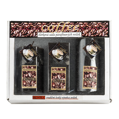 Dárková sada parafínových svíček káva