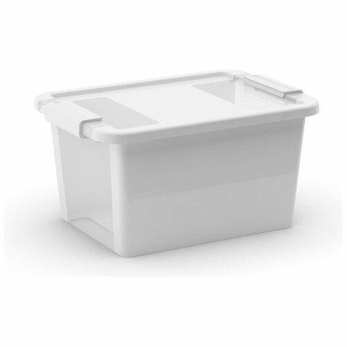 Úložný Bi box L 40 litrů kombinace průhledná bílá