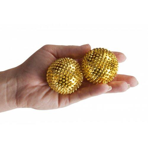 Modom Akupresurní kuličky s magnety zlatá, pr. 4,5 cm
