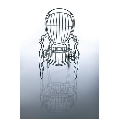 Křeslo Icon 01, stříbrné