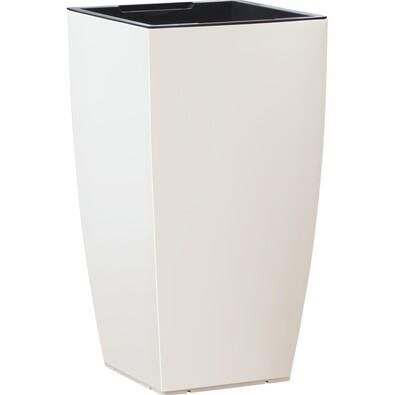 Emsa samozavlažovací květináč Casa Matt bílá 66 cm