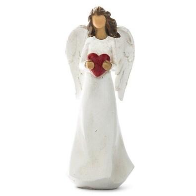 Anděl s červeným srdíčkem