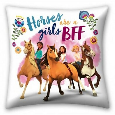 Polštářek Spirit Horses are a girls bff, 40 x 40 cm
