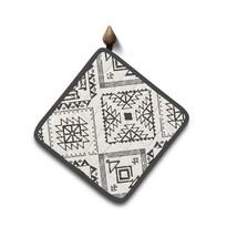 Pad de bucătărie Domarex Indiana Aztec, gri, 18 x 18 cm