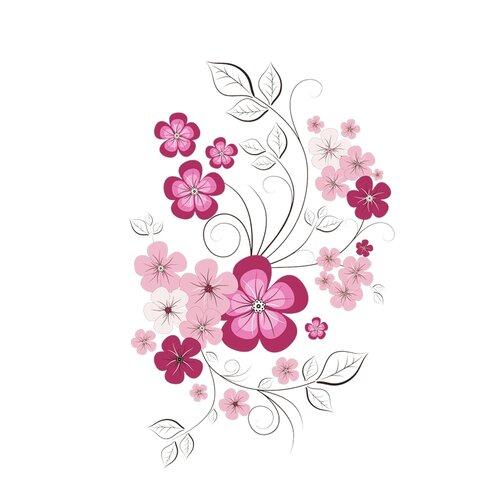 Samolepiaca dekorácia jarný motýľ