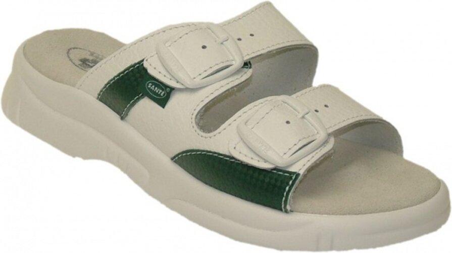 Dámske zdravotné papuče Santé, biela, 40
