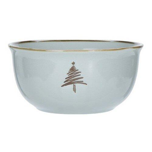 2dílná sada porcelánových hrnků Merry Christmas, 450 ml, šedozelená