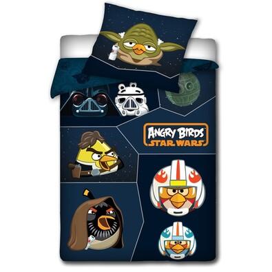 Dětské bavlněné povlečení Angry Birds Star Wars, 140 x 200 cm, 70 x 80 cm