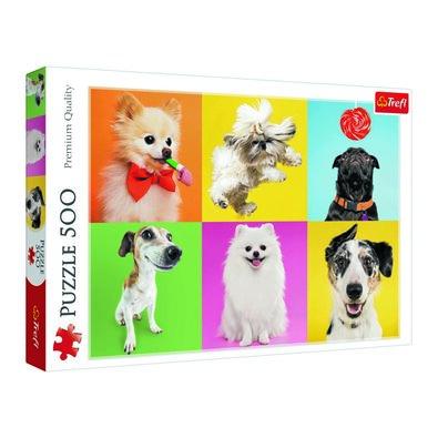 Trefl Puzzle Šťastné psi, 500 dielikov