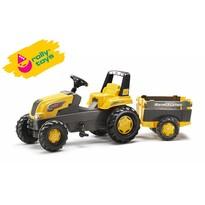 Rollytoys Traktor na pedały z przyczepą Farm Rolly Junior, żółty