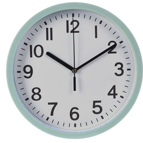 Nástenné hodiny Mackay zelená, 22,5 cm