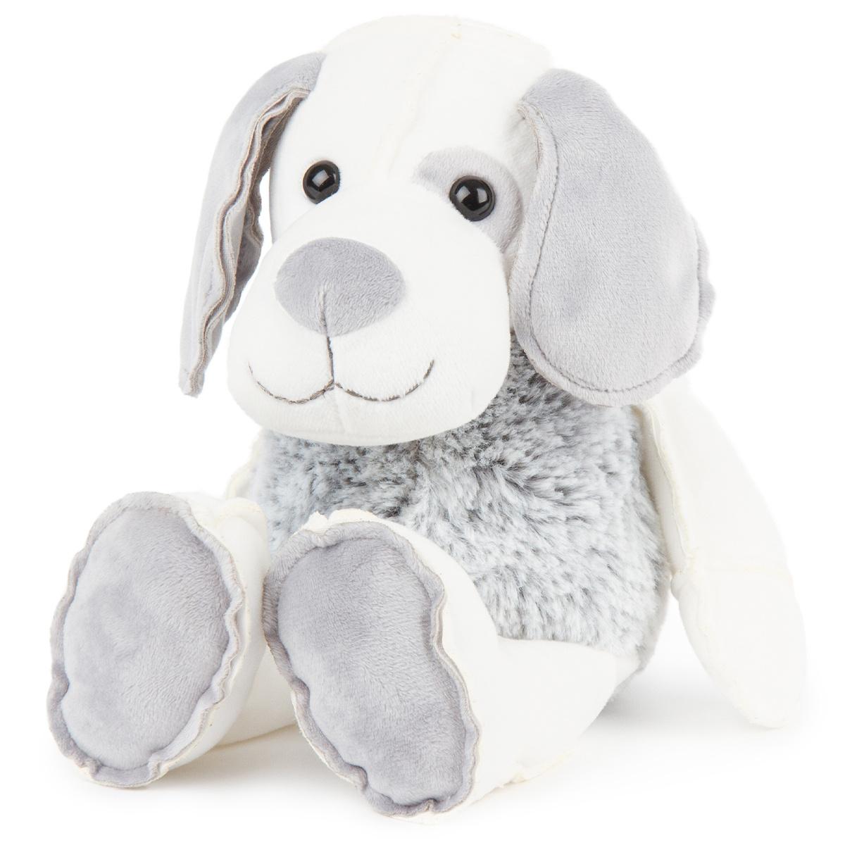 Câine din pluș, gri-alb, 30 cm imagine 2021 e4home.ro