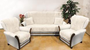 4Home Přehozy na sedací soupravu Beránek krémová, 150 x 200 cm, 2 ks 65 x 150 cm