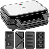 Concept SV3070 sendvičovač s výměnnými deskami XXL, 4v1