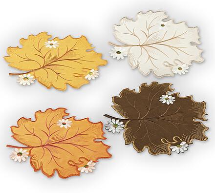 Prostírky Podzimní listí, vícebarevná, 28 x 28 cm