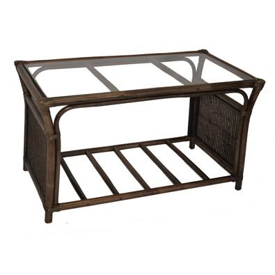 Ratanový stolek Oliver, tmavě hnědá