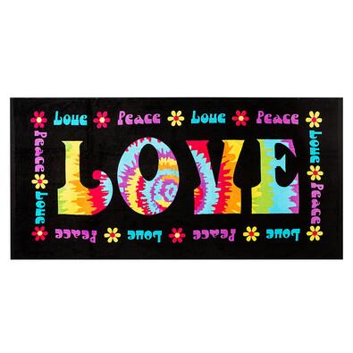 Plážová osuška Love & Peace, 70 x 150 cm