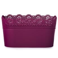 Lace műanyag virágtartó csipkével, fukszia színű