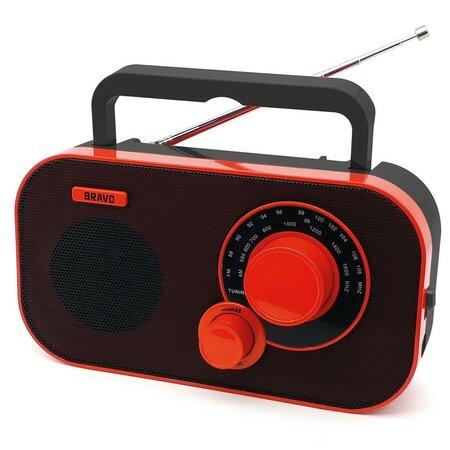 Bravo B-5184 prenosné rádio, červená