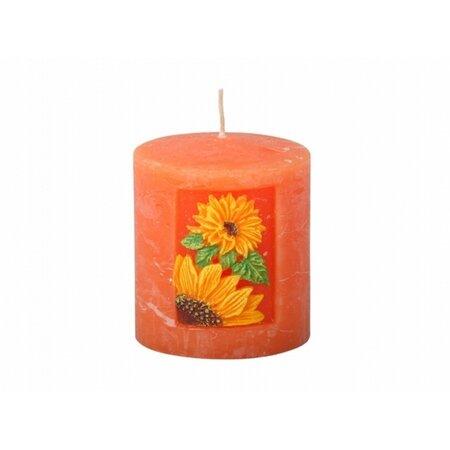 Vyrezávaná sviečka Slnečnica, valec