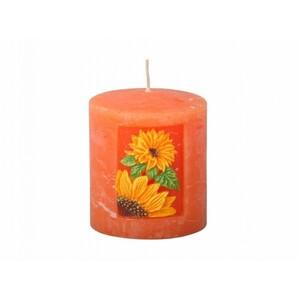 Vyřezávaná svíčka Slunečnice, válec