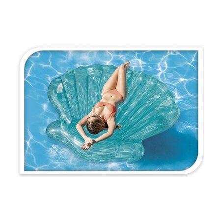 Şezlong gonflabil Intex Seashell, albastru