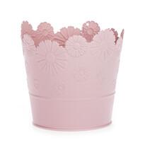 Zinkový květináč Daisy růžová, pr. 13,5 cm