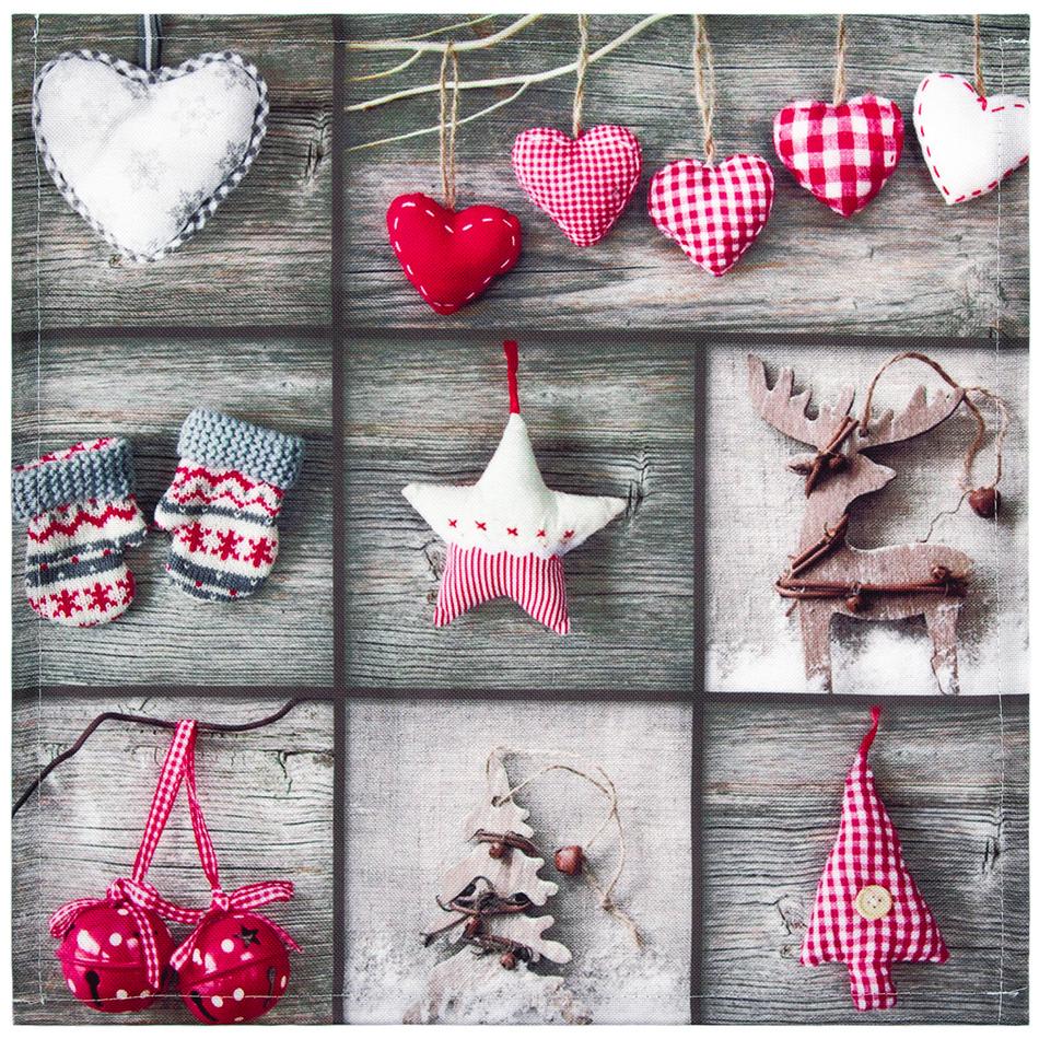 Forbyt Vánoční ubrus Ozdobičky patchwork, 35 x 35 cm
