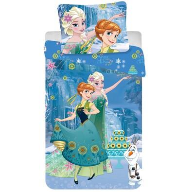 Dětské bavlněné povlečení Ledové království Frozen Cake, 140 x 200 cm, 70 x 90 cm